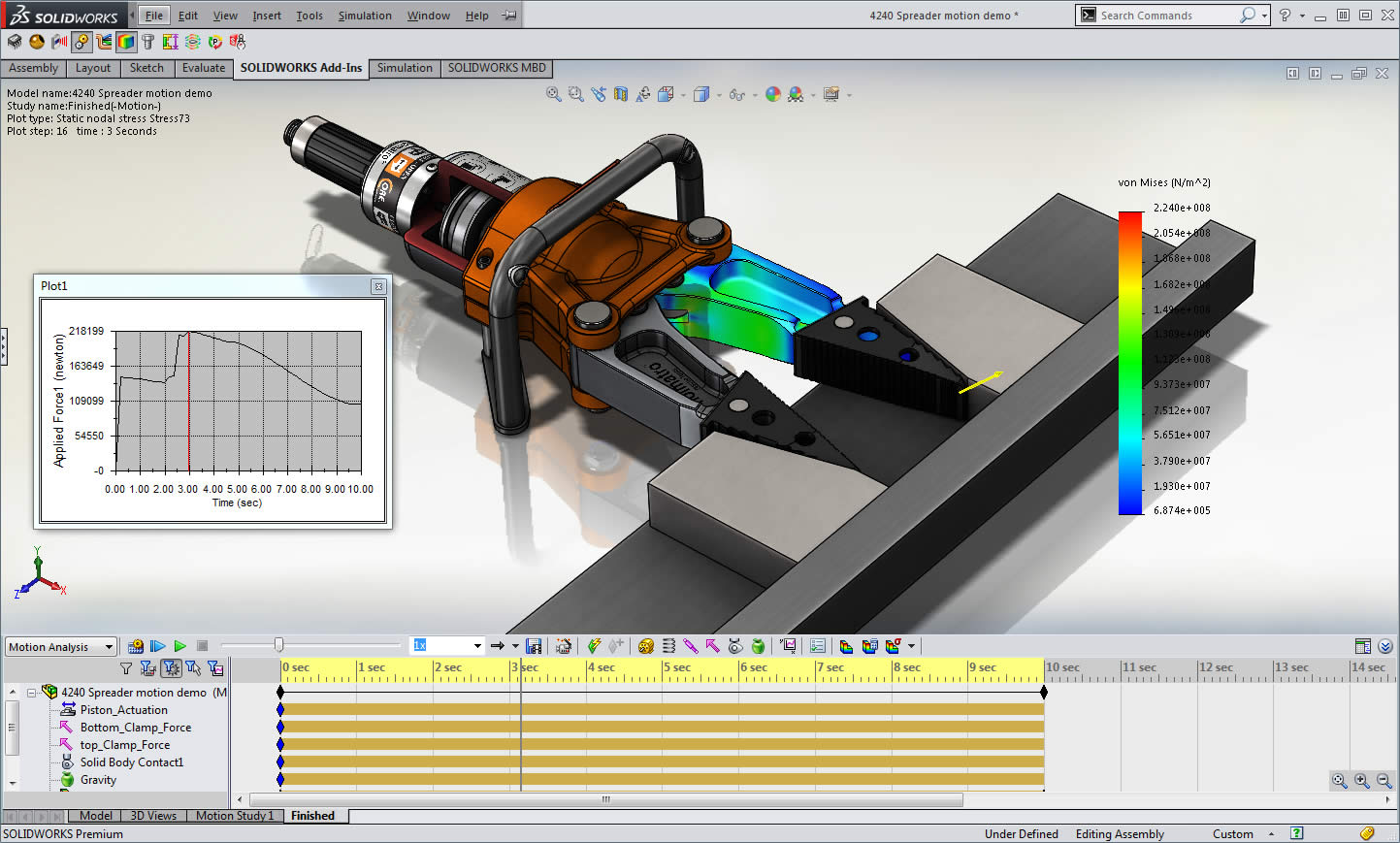 solidworks-motion-analysis-study